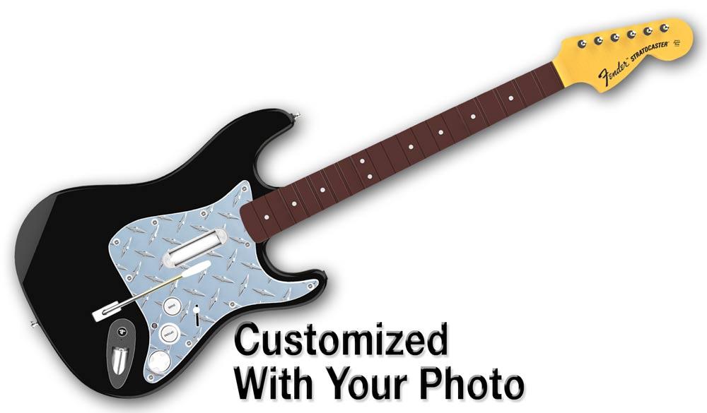 Custom guitar skin rock band
