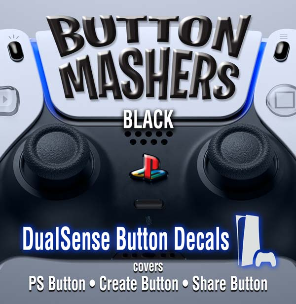 Button Mashers – DualSense Buttons – Black