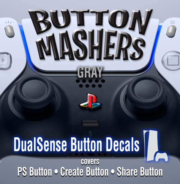 Button Mashers – DualSense Buttons – Gray