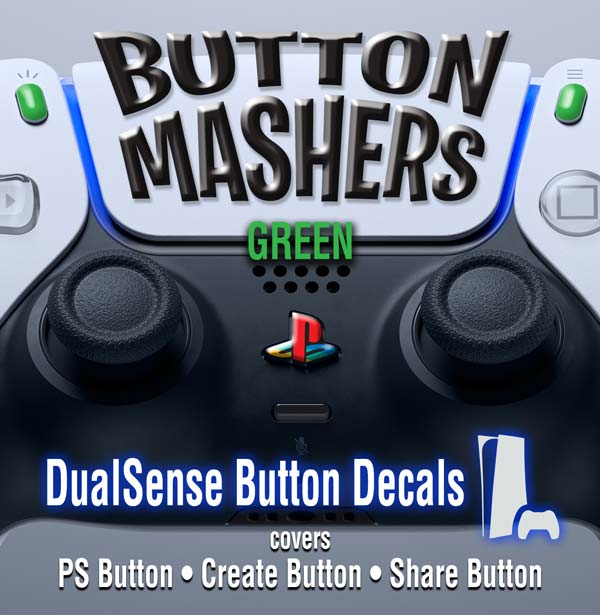 Button Mashers – DualSense Buttons – Green