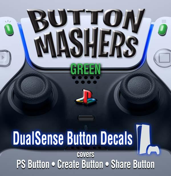 Button Mashers – DualSense Buttons – Green