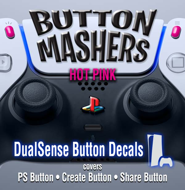 Button Mashers – DualSense Buttons – Hot Pink