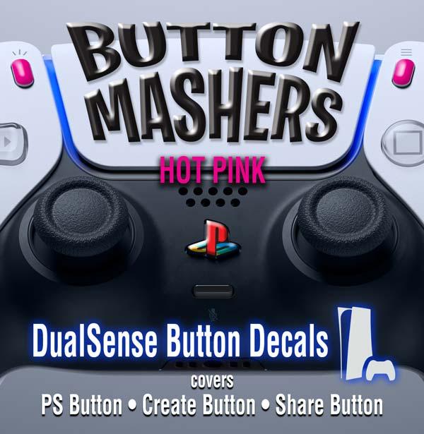 Button Mashers – DualSense Buttons – Hot Pink