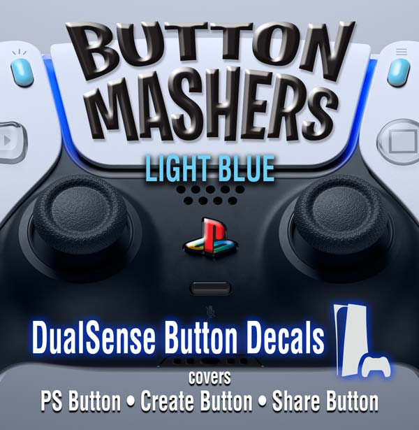 Button Mashers – DualSense Buttons – Light Blue
