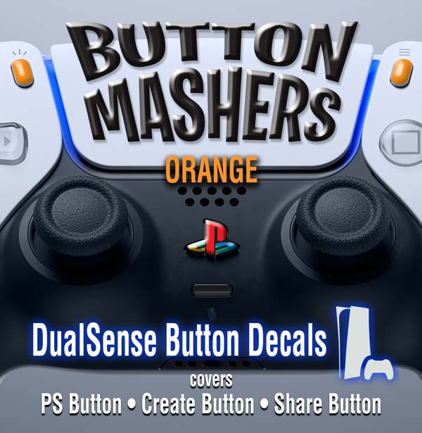 Button Mashers – DualSense Buttons – Orange