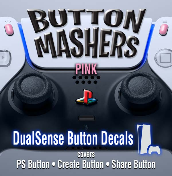 Button Mashers – DualSense Buttons – Pink