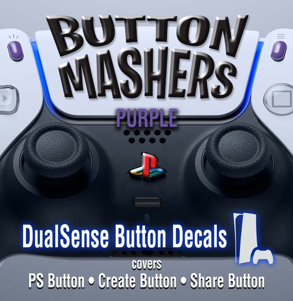 Button Mashers – DualSense Buttons – Purple