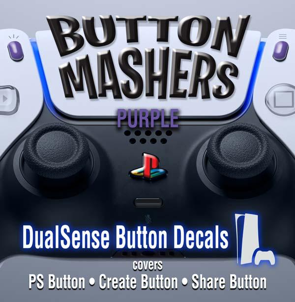 Button Mashers – DualSense Buttons – Purple