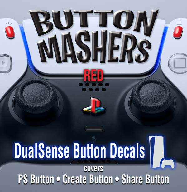 Button Mashers – DualSense Buttons – Red