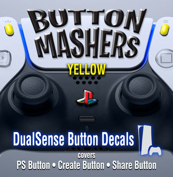 Button Mashers – DualSense Buttons – Yellow