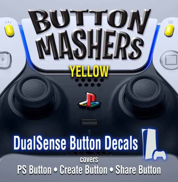 Button Mashers – DualSense Buttons – Yellow