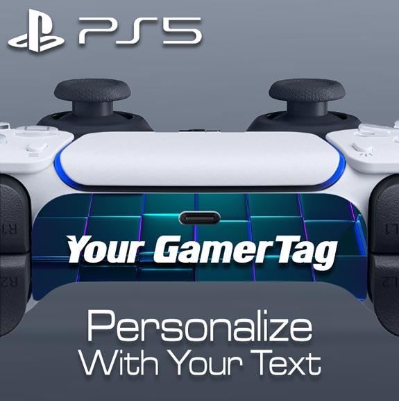 Custom DualSense Controller Skin – Nameplate
