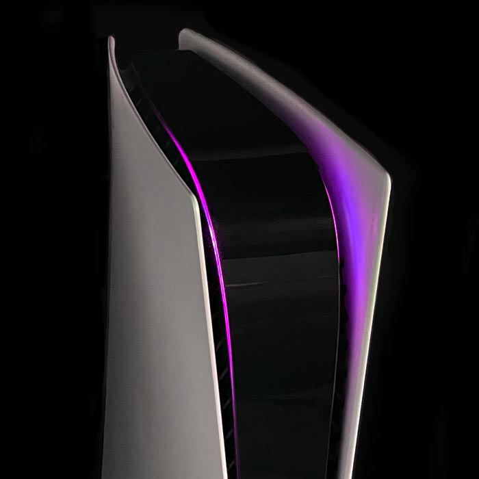PS5 Power Light Decal – Purple