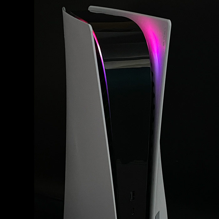 PS5 Power Light Decal – Pink-Purple