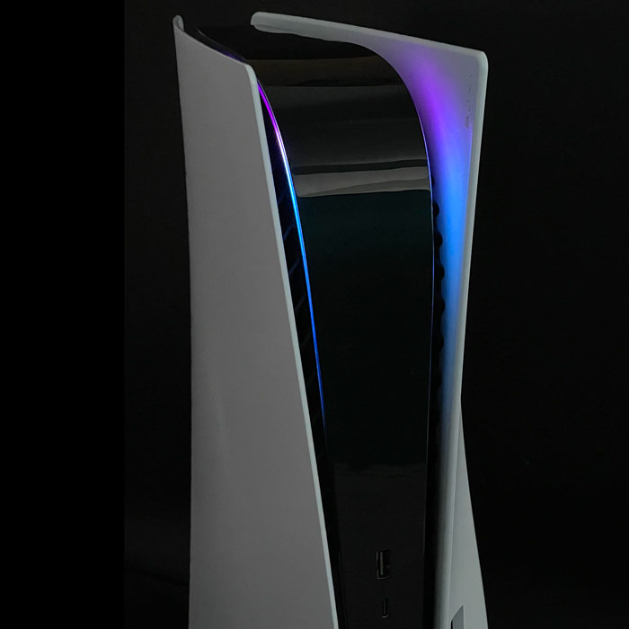 PS5 Power Light Decal – Purple-Blue