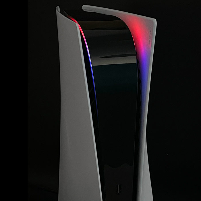 PS5 Power Light Decal – Red-Blue