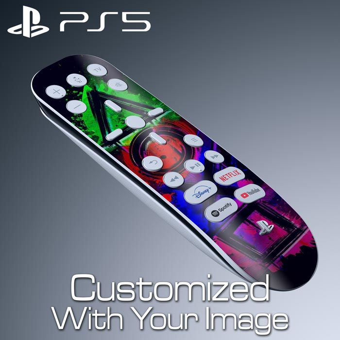 Custom PS5 Media Remote Skin – Top