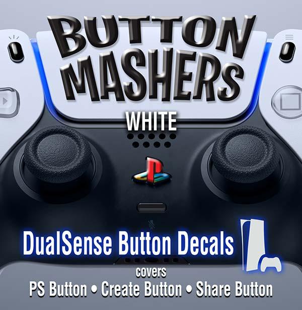 Button Mashers – DualSense Buttons – White