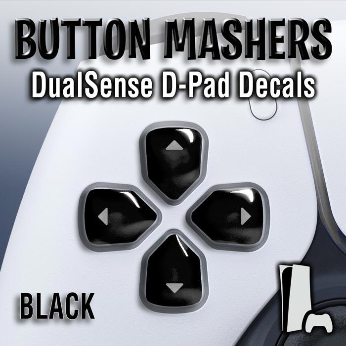 Button Mashers – DualSense D-Pad Decals (Black)