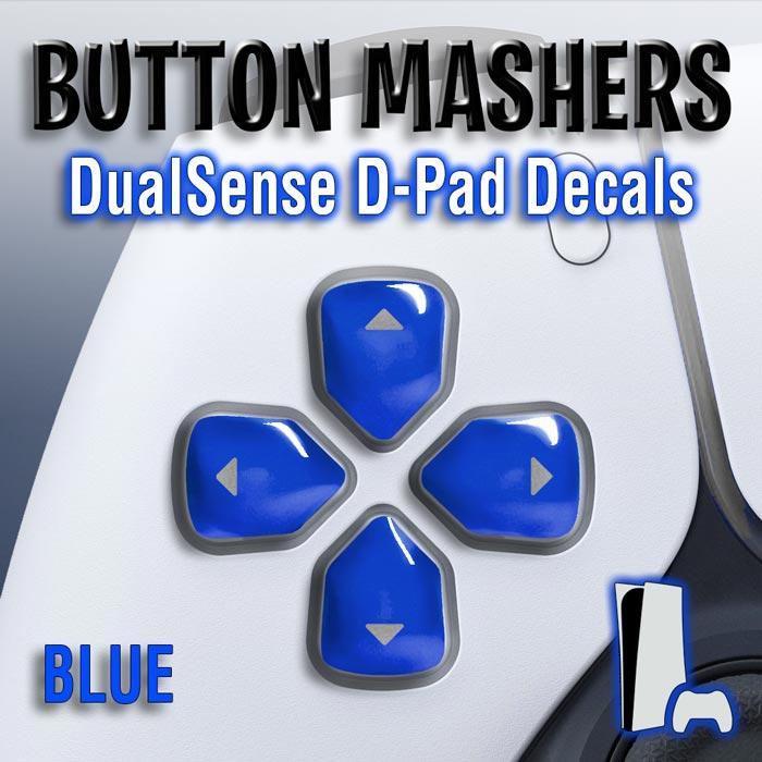Button Mashers – DualSense D-Pad Decals (Blue)