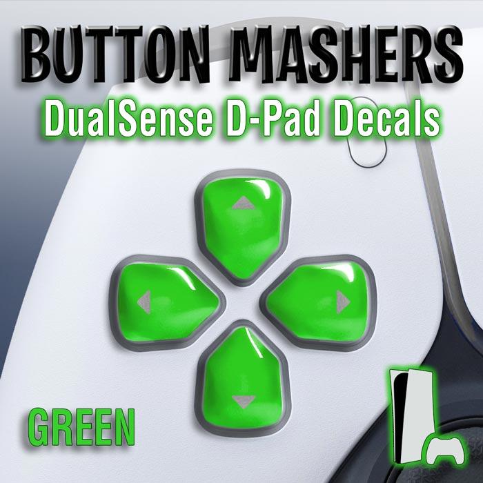 Button Mashers – DualSense D-Pad Decals (Green)