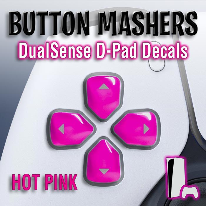 Button Mashers – DualSense D-Pad Decals (Hot Pink)
