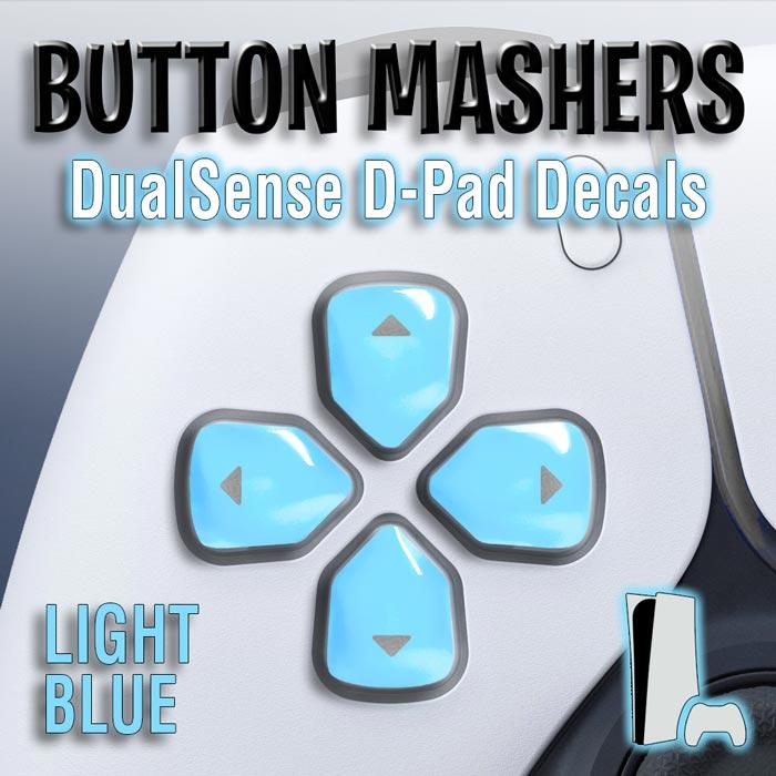 Button Mashers – DualSense D-Pad Decals (Light Blue)