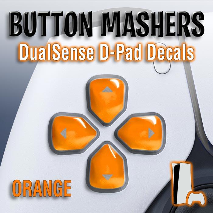 Button Mashers – DualSense D-Pad Decals (Orange)