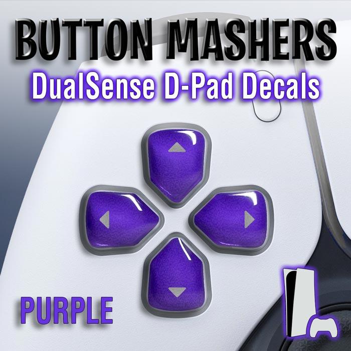 Button Mashers – DualSense D-Pad Decals (Purple)
