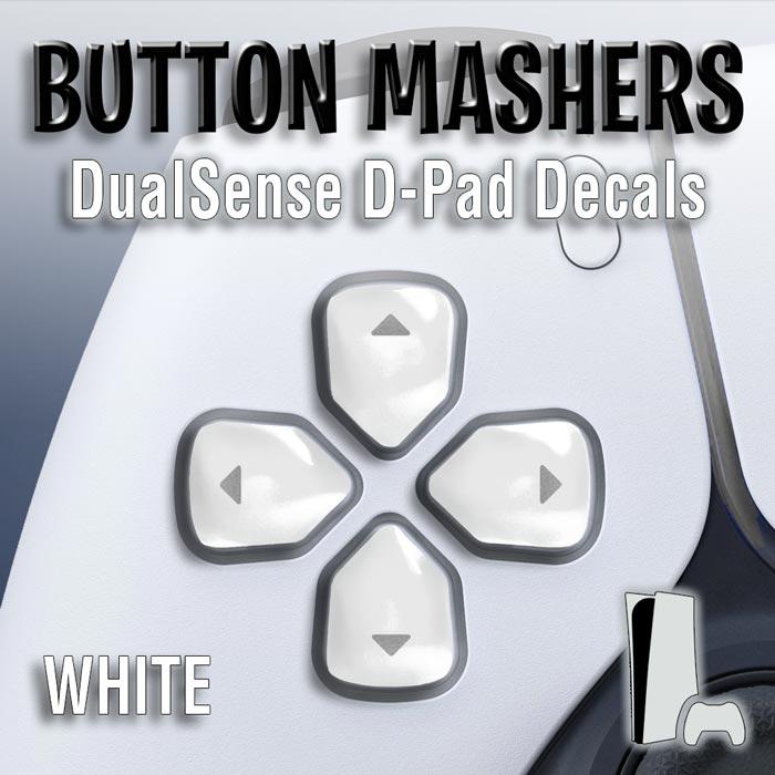 Button Mashers – DualSense D-Pad Decals (White)