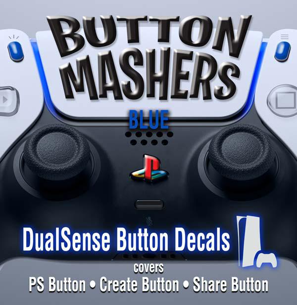 Button Mashers – DualSense Buttons – Blue